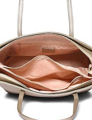 Stride Textured Metallic Tote Bag