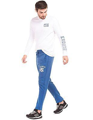 Aeropostale Solid Cotton Track Pants