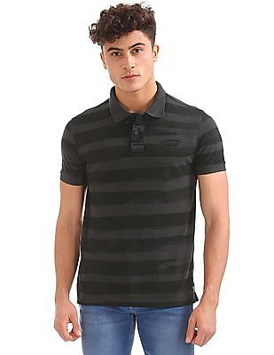 Ed Hardy Slim Fit Striped Polo Shirt