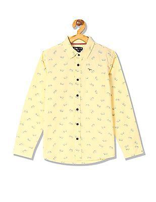 FM Boys Boys Printed Long Sleeve Shirt