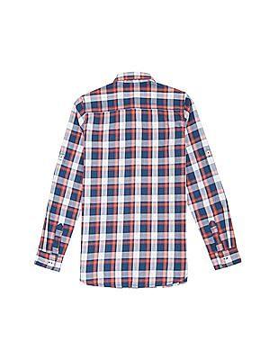 U.S. Polo Assn. Kids Boys Check Regular Fit Shirt