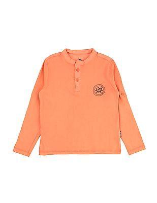 U.S. Polo Assn. Kids Boys Mandarin Collar T-Shirt