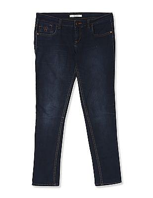 Flying Machine Women Blue Veronica Skinny Fit Dark Wash Jeans