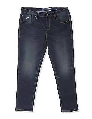 Flying Machine Mid Rise Washed Jeans