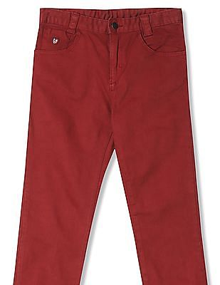 U.S. Polo Assn. Kids Boys Standard Fit Flat Front Trousers
