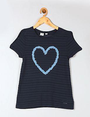 GAP Girls Floral Flutter T-Shirt