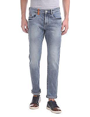 U.S. Polo Assn. Denim Co. Brandon Slim Tapered Acid Wash Jeans
