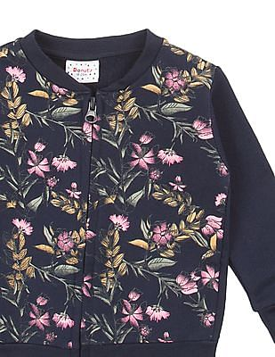 Donuts Girls Printed Front Zip-Up Jacket