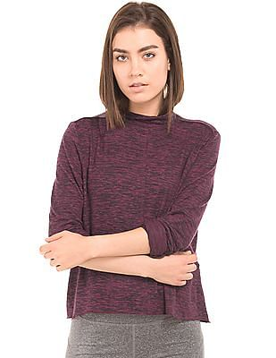Aeropostale High Neck Heathered Top