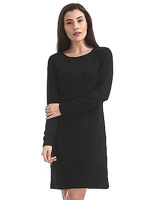 U.S. Polo Assn. Women Patterned Weave Shift Dress
