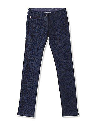 U.S. Polo Assn. Kids Girls Standard Fit Acid Wash Jeans