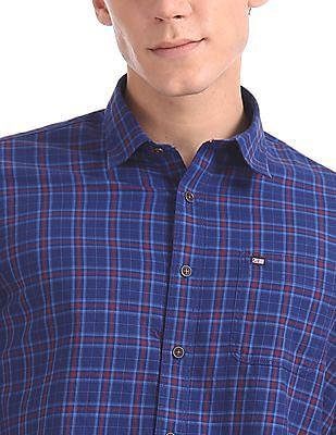 Arrow Sports Slim Fit Forward Point Collar Shirt