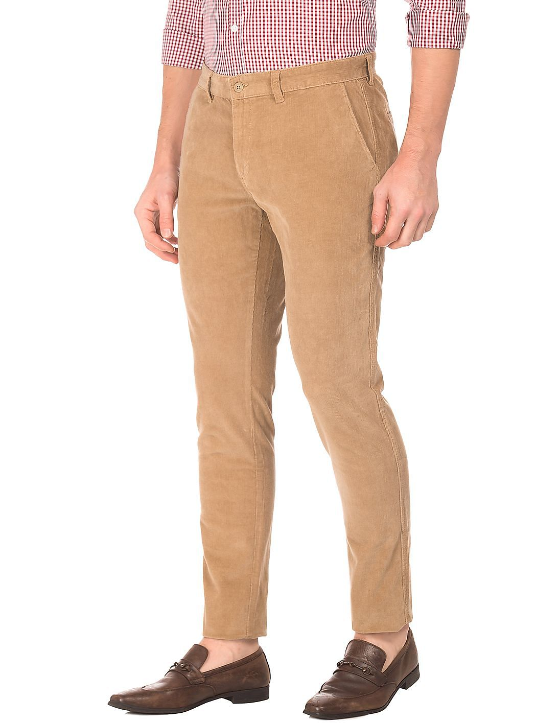 4f160568bd78f7 Buy Men Modern Fit Corduroy Trousers online at NNNOW.com