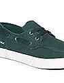 Aeropostale Solid Canvas Boat Shoes