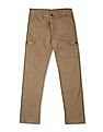 Cherokee Brown Boys Solid Cotton Cargos