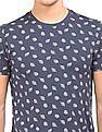Flying Machine Leaf Print Cotton T-Shirt