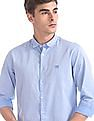 Flying Machine Regular Fit Patterned Weave Shirt