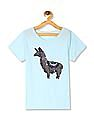 The Children's Place Blue Girls Flippy Sequin Vented Hem Top
