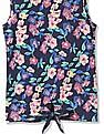 U.S. Polo Assn. Kids Girls Sleeveless Printed Top