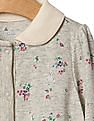 GAP Baby Grey Floral Collar Footed One Piece