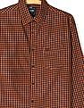 Roots by Ruggers Orange And Black Cotton Check Shirt