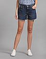 GAP Mid Rise Denim Shorts with Distressed Detail