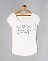 GAP White Logo Print Short Sleeve T-Shirt