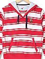 U.S. Polo Assn. Kids Boys Standard Fit Striped Hooded Sweatshirt