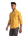 U.S. Polo Assn. Yellow Solid Button Down Shirt