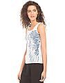 EdHardy Women Rib Knit Printed Tank Top