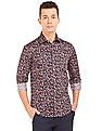 Arrow Floral Printed Slim Fit Shirt