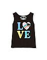 The Children's Place Toddler Girl Matchables Sleeveless Glitter Graphic Crossback Tank Top
