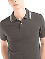 GAP Stripe Collar Pique Polo