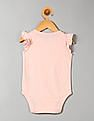GAP Baby Pink Flutter Sleeve Graphic Bodysuit
