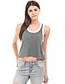 Aeropostale Heathered Racerback Crop Top