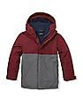 The Children's Place Boys Red Colour Block Three-In-One Jacket