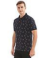 Flying Machine Printed Pique Polo Shirt