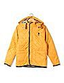 U.S. Polo Assn. Kids Boys Contrast Trim Quilted Jacket