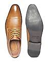 Arrow Cap Toe Textured Derby Shoes