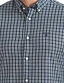 Gant Original Tech Prep Indigo Check Slim Button Down