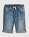 GAP Boys Shark Denim Pull-On Shorts