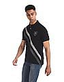U.S. Polo Assn. Denim Co. Black Diagonal Stripe Pique Polo Shirt