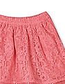Cherokee Pink Girls Flared Lace Skirt