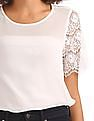 GAP Lace Sleeve Top