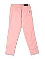 U.S. Polo Assn. Kids Girls Pleated Front Solid Trousers