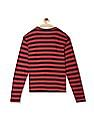 Flying Machine Red And Black Striped Long Sleeve T-Shirt