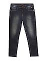 Flying Machine Blue Mankle Tapered Fit Washed Jeans
