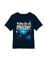 The Children's Place Toddler Boy Short Sleeve Glow-In-The-Dark 'My Other Shirt Is A Spacesuit' Graphic Tee