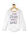 The Children's Place Girls Active Long Sleeve Embellished Graphic Hi-Low Top