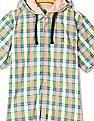 U.S. Polo Assn. Kids Boys Check Hooded Shirt